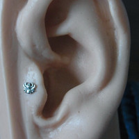 Mini spider tragus / cartilage /helix earing (1pc)