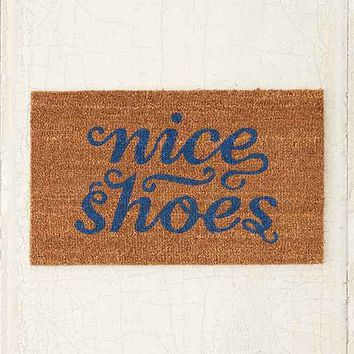Plum & Bow Nice Shoes Door Mat