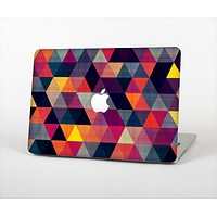 The Vector Triangular Coral & Purple Pattern Skin Set for the Apple MacBook Pro 13""