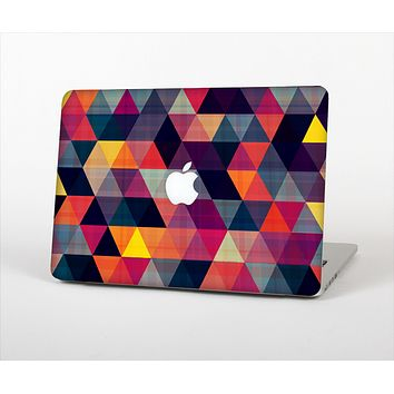 The Vector Triangular Coral & Purple Pattern Skin Set for the Apple MacBook Air 11""