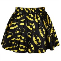 Ninimour- Sexy Retro Vintage Digital Print Skater Skirt (Batman)