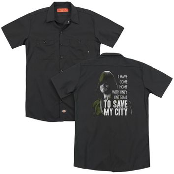 Arrow - Save My City(Back Print) Adult Work Shirt