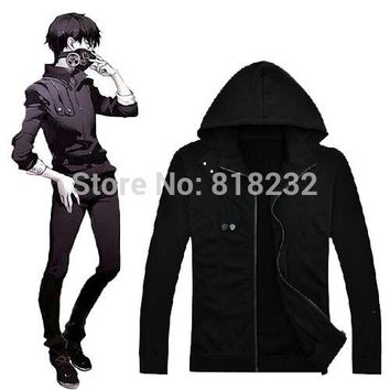 Tokyo Ghouls Ken Kaneki Cotton Hoodie Black Casual Jacket Coat Outfit Anime Cosplay Costumes
