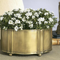 Dessau Home Antique Brass Planter - R185