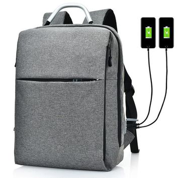 Waterproof Backpack, Travel Bag with USB Charger (Black, Gray, Red)