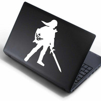 Link Silhouette - Legend of Zelda Laptop Decal
