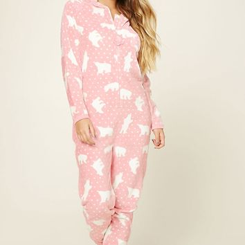 Fleece Polar Bear PJ Jumpsuit