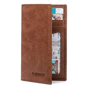 Huztencor Slim Thin Credit Card Holder Leather RFID Blocking Bifold Front Pocket Wallet