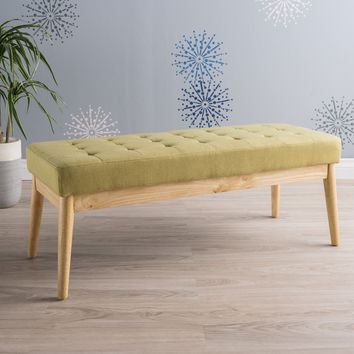 Anglo Modern Mid-Century Fabric Bench