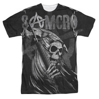 SONS OF ANARCHY SOMCRO REAPER Short Sleeve T-Shirt 100% Polyester