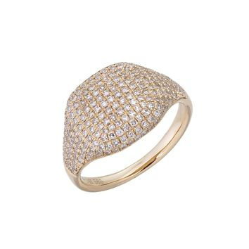Diamond Signet Ring 14KT