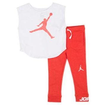 ONETOW Girls' Jordan Oversize T-Shirt and Leggings Set