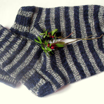 hand knitted mens wool socks, Wonderful Christmas gift for anybody