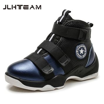 2017 New Winter Fashion Children Genuine Leather boots Kids Boots boys Running Shoes Flat With Plush Warmth Sports Sneakers