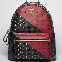MCM Special Edition Color Block Medium Backpack
