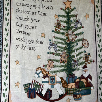 Tache 1 Piece 50 x 60 Merry Christmas Morning Tapestry Throw