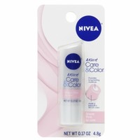 Nivea Lip Care A Kiss of Care & Color, Sheer Pink