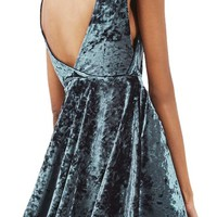 Topshop Low Back Velvet Dress (Petite) | Nordstrom