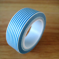 Blue Stripe Washi Tape - 15mm x 15m
