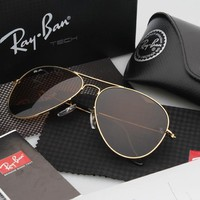 RAY-BAN SUNGLASSES AVIATOR RB3025 Brown