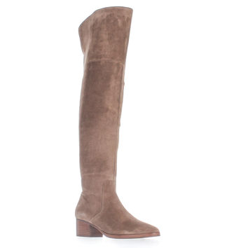 Via Spiga Ophira Over-The-Knee Boots, Dark Taupe, 6.5 US / 36.5 EU