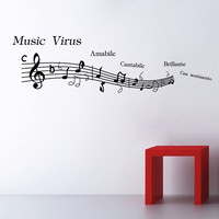 Hot Sale Music Wall Sticker [6284051590]