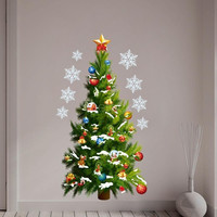 DIY Wallpaper Wall Stickers Christmas Tree Stars Removable Wall Stickers Art Decals Mural Sticker for Room Decal 50 * 70cm Home decoration H13093|26501 = 1946744196