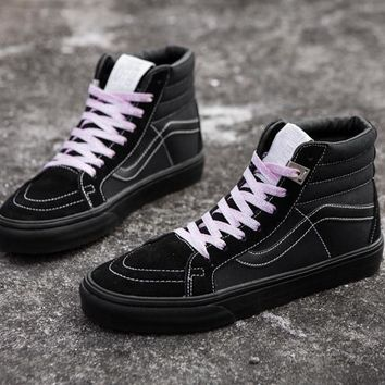 Vans Vault X ALYX 17SS OG SK8-HI LX Black Pink High Top Sneaker Flats Shoes Sport Shoe