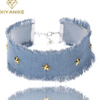 XIYANIKE New Arrival 2017 Big Brand Hot Sale Fashion Wild Cowboy Necklace Choker Jewelry For Women Necklaces & Pendants XY-N294