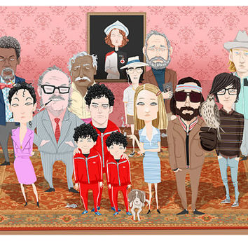 $65.00 I always wanted to be a Tenenbaum CUSTOM PORTRAIT by suPmon