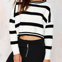 Stripe Knitted Crop Jumper