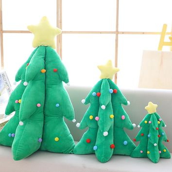Christmas Tree Throw Pillows Cotton Filling Christmas Decorations Kids' Gift Decorative Pillowcase Cushion for Bedroom #A