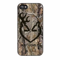 Love Browning Deer Camo Real Tree Just Love It iPhone 5s Case