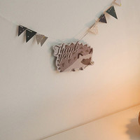 Dailylike Hedgehog ornament message card