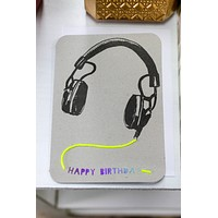 Head Phones Card
