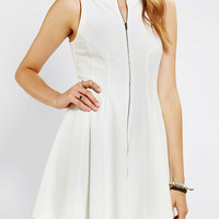 Urban Outfitters - Sparkle & Fade Zip-Front Twill Skater Dress