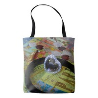 Jewelry on Top of Decorative Box Tote Bag