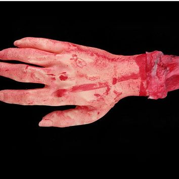 24cm Severed Scary Bloody Fake Hand Arm Body Parts Fake Latex Mischief Props  Haunted House Halloween Horror Decoration Supplies