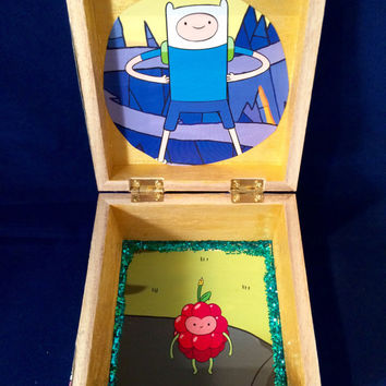ADVENTURE TIME stash box Upcycled comic book
