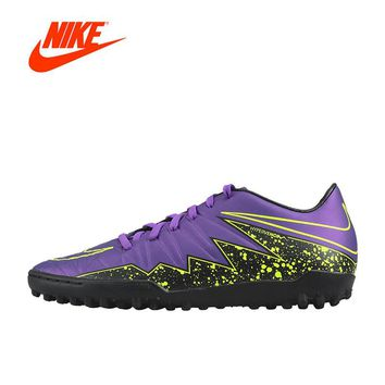 Original New Arrival Official NIKE HYPERVENOM PHELON II TF Men's Football Soccer Shoes