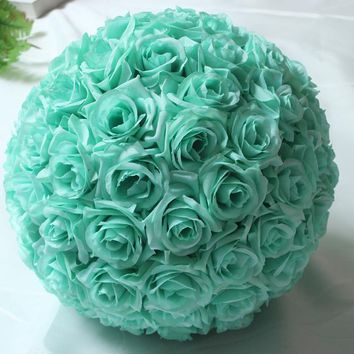 6.8inch(17cm) Mint Green Flower Ball Centerpieces