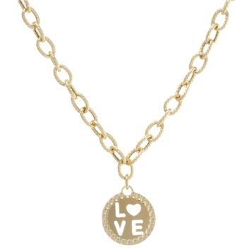 Round Cut Out Love Necklace