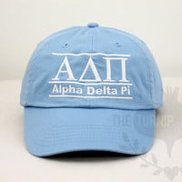 Alpha Delta Pi Sorority Baseball Cap - Line Design | The Turnip Seed .Co