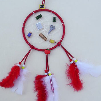 The Teacher dreamcatcher/ School Supplies themed dreamcatcher/ teacher gift