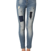 HIGH QUALITY SKINNY JEANS WITH PAINT SPLASH