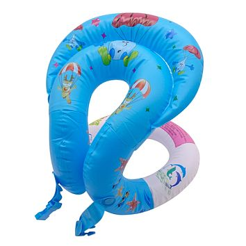 Swim Ring Portable Inflatable Kid's Learn to Swim Vests Pool Float Swimming Lap for Kids Age 8+ Girls and Boys