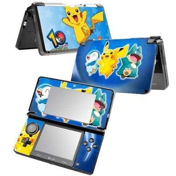 Protector Vinyl Skin Sticker for 3DS Cover Decal for 3DS AccessoryKawaii Pokemon go  AT_89_9