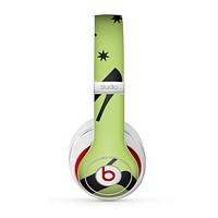 The Green & Black High-Heel Pattern V12 Skin for the Beats by Dre Studio (2013+ Version) Headphones