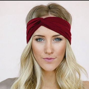 Turban headband for women with a twist