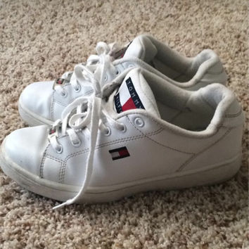 Tommy Hilfiger white flag shoes